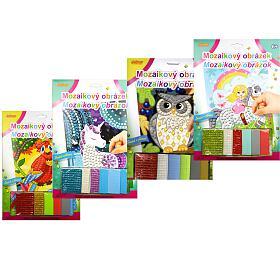 Mozaika obrázek třpytivý 21x29cm mix druhů na kartě - SMT Creatoys