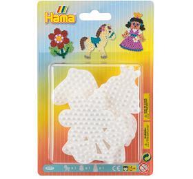 Podložka na zažehlovací korálky Hama - kytička,koník, princezna plast 3ks na kartě 12x18x3cm - Lowlands