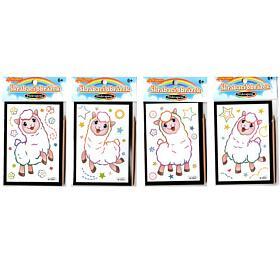 Škrabací obrázek mini překvapení 8,5x12cm 4 druhy v sáčku 36ks v boxu - SMT Creatoys