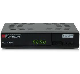 SET TOP BOX OPTICUM AX360 FullHD s HEVC H.265 DVB-T2, USB přijímač Opticum - Opticum