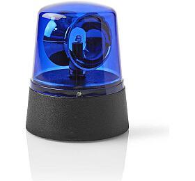Fun Emergency LED Light / Napájení z baterie / 4,5 V DC / 0.4 W / 9.2 cm / LED / Počet LED: 1 LED / Barva světla: Modrá / Zapnuto / vypnuto / Plast / Černá / Modrá - NEDIS