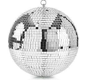 Zrcadlová Disco Koule / 30 cm / Stříbrná - NEDIS