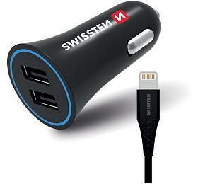 SWISSTEN CL ADAPTÉR 2,4A POWER 2x USB + KABEL LIGHTNING (20110910) - Swissten