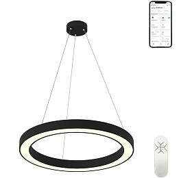 Smart závěsné svítidlo Immax NEO PASTEL 07094L Zigbee 3.0 95cm 66W, černé - IMMAX