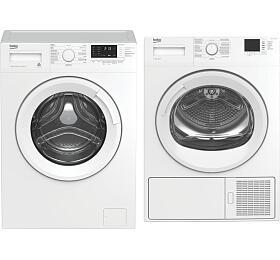 SET Pračka BEKO WUE 7612 CSX0 + Sušička prádla BEKO HDF7412CSRX SLIM - BEKO
