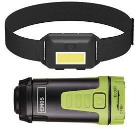 Sada LED čelovky a kempingové LED svítilny - Emos