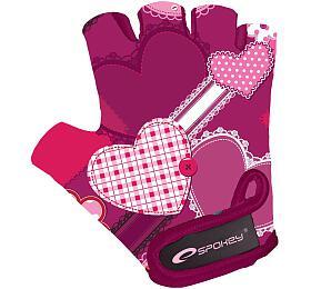 Spokey HEART GLOVE Dětské cyklistické rukavice XS - Spokey