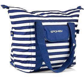 Spokey SAN REMO Termo taška, pruhy - námořnícká modrá, 52 x 20 x 40 cm - Spokey