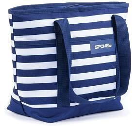 Spokey ACAPULCO Termo taška malá, pruhy - námořnická modrá, 39 x 15 x 27 cm - Spokey