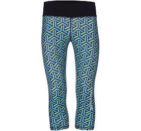 Spokey PRATO, fitness 3/4 legíny, modro-zelené, vel. S - Spokey