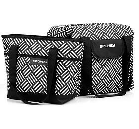 Spokey ACAPULCO Termo taška malá, černo-bílá, 39 x 15 x 27 cm - Spokey