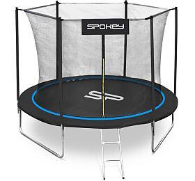 Spokey JUMPER Trampolína černo-modrá, průměr 244 cm, vč. ochranné sítě a žebříku - Spokey