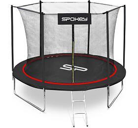 Spokey JUMPER Trampolína černo-červená, průměr 244 cm, vč. ochranné sítě a žebříku - Spokey