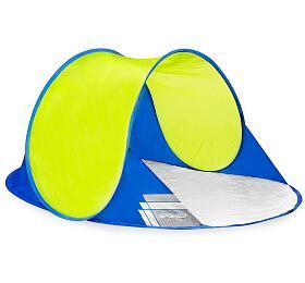 Spokey ALTUS Samorozkládací outdoorový paravan, 195x100x85 cm - modro-žlutý - Spokey