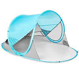 Spokey STRATUS Samorozkládací outdoorový paravan, UV 40, 195x100x85 cm - světle modrý - Spokey