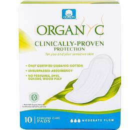 Dámské vložky s křidélky denní 10 ks BIO bavlna ORGANYC - Organyc