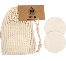 Odličovací tampony pratelné 10 kusů z Bio bavlny a bambusu SRNECZEK - Srneczek