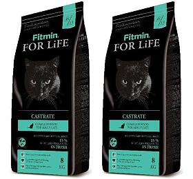 SET Fitmin cat For Life Castrate - 2 x 8 kg - FITMIN