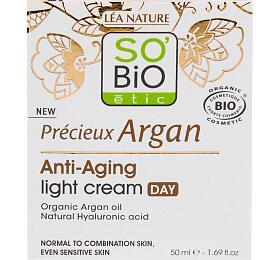 Krém denní lehký pro normální až smíšenou pleť 50 ml BIO Anti-age Precieux Argan SO'BiO étic - So Bio