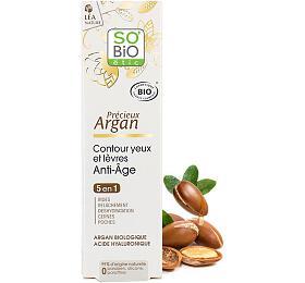 Krém na okolí očí a rtů So Bio 15 ml BIO Anti-Age Precieux Argan - So Bio