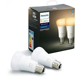 Philips Hue White Ambiance 2x Bluetooth žárovka LED E27/A60 9W 806lm - Philips