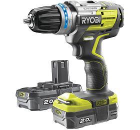Ryobi R18PDBL-220S, aku 18 V bezkomutátorová příklepová vrtačka + 2x 2Ah baterie + nabíječka ONE+ - Ryobi
