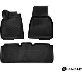 3D Gumové koberce TESLA Model S, 2012->, Evropa, 3ks SIXTOL - Sixtol