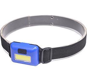 Solight čelová LED COB svítilna, 3W, modrá - Solight