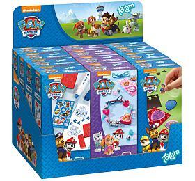 Kreativní sada 3 druhy Paw Patrol/Tlapková patrola v krabičce 6x13x3,5cm 12ks v boxu - Lowlands