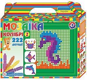 Mozaika sada plast mořský svět barevná 222ks v krabičce 22x20x5cm - Teddies