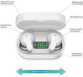 Bezdrátová sluchátka LAMAX Taps1 White - Lamax