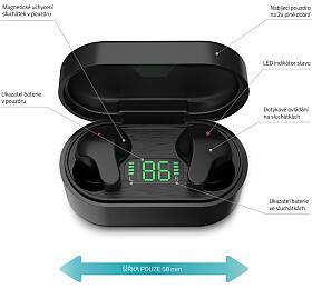 Bezdrátová sluchátka LAMAX Taps1 Black - Lamax
