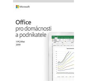 MS FPP Office 2019 pro domácnosti a podnikatele CZ - bez média, P6 (nahrazuje T5D-03195) (nákup bez HW) (T5D-03305) - Microsoft