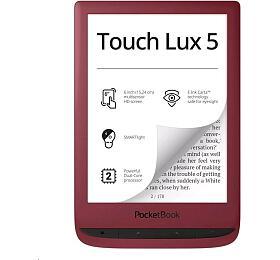 Čtečka knih PocketBook 628 Touch Lux 5, červený - PocketBook
