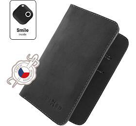 Kožená peněženka FIXED Smile Wallet XL se smart trackerem FIXED Smile Motion, černá - FIXED