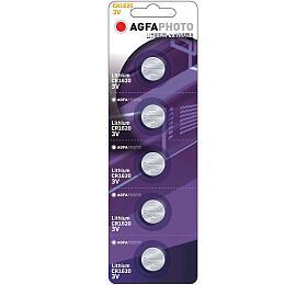 AgfaPhoto knoflíková lithiová baterie CR1620, blistr 5ks - Agfa