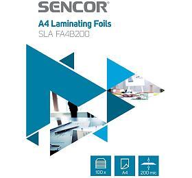 SLA FA4B200 Fólie A4 200mic 100ks Sencor - Sencor
