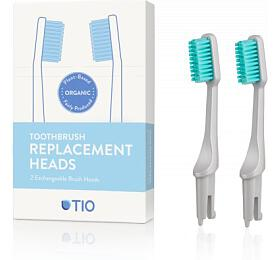 TIO Náhradní hlavice k zubnímu kartáčku (medium) (2 ks) - oblázkově šedá - TIO