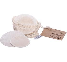 Mama Natura Pratelné odličovací tamponky - mix (4 ks malé + 2 ks velké) - Mama Natura (Tierra Verde)