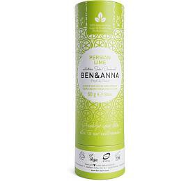 Ben & Anna Tuhý deodorant (60 g) - Perská limetka - nezanechává lepivý pocit v podpaží - Ben & Anna