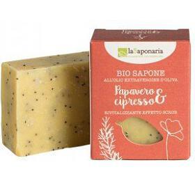 laSaponaria Tuhé olivové mýdlo BIO - Mák a cypřiš (100 g) - laSaponaria