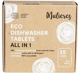 Mulieres Tablety do myčky - vše v jednom BIO (25 ks) - s certifikací ecocert - Mulieres