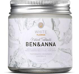 Ben & Anna Bělicí zubní pasta s fluorem (100 ml) - s heřmánkem a šalvějí - Ben & Anna