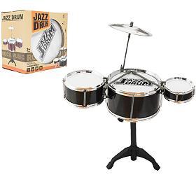 Bicí souprava/bubny plast s příslušenstvím v krabici 23x23x17cm - Teddies