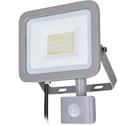 Solight LED reflektor Home se sensorem, 30W, 2250lm, 4000K, IP44, šedý - Solight