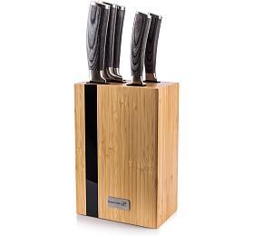 Sada nožů G21 Gourmet Rustic 5 ks + bambusový blok - G21
