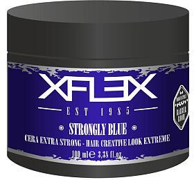 Xflex STRONGLY BLUE Modelovací Vosk extra silný s leskem s mořskými řasami 100ml - Xflex