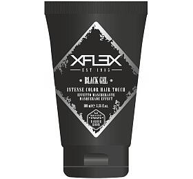 Xflex BLACK GEL černý modelovací gel, maskovací efekt pro prošedivělé vlasy 100ml - Xflex