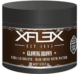Xflex GLOWING BROWN Modelovací vosk s extra leskem s kořenovými extrakty 100ml - Xflex