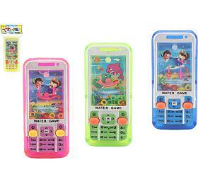 Vodní hra hlavolam mobil plast 11x5cm 4 barvy v sáčku - Teddies
